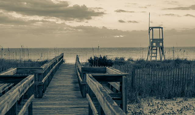 Kure Beach in Duotone