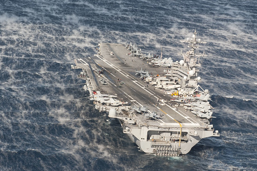 USS George H.W. Bush is underway. by Official U.S. Navy Imagery