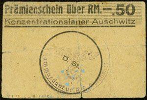 Auschwitz concentration camp money
