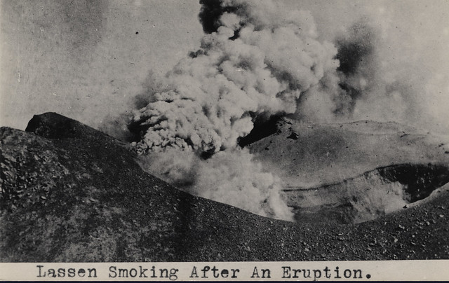 Smoke on Lassen Peak Crater