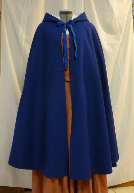 18th century royal blue cloak