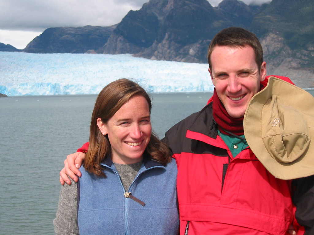 My intrepid friend Hannah with me in front of Glacier San Rafael in southern Chile, the closest glacier to the equator in the southern hemisphere