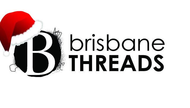 Brisbane Threads Logo w Santa Hat