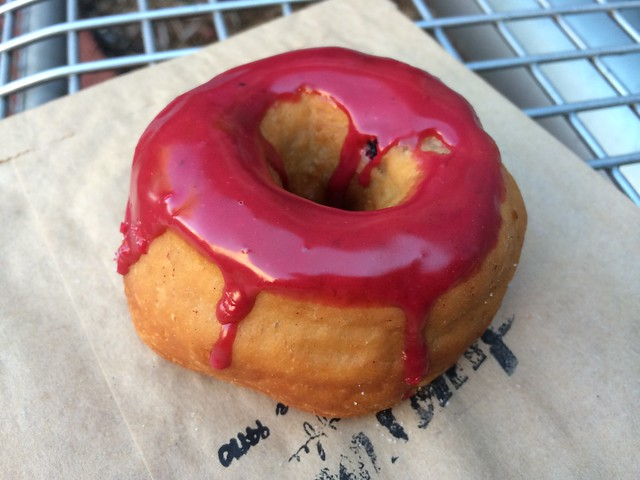 Meyer lemon huckleberry donut - Dynamo Donuts