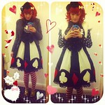 A Very AP Christmas prequel, outfit for the last #lolitasofleeds meet of 2013! Christmas lunch at Interlude **(ू•ω•ू♡)**