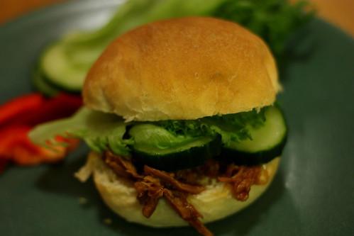 Pulled pork burgers