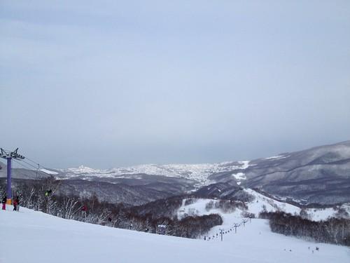 朝里川温泉スキー場 パープルリフト頂上-02 20140103