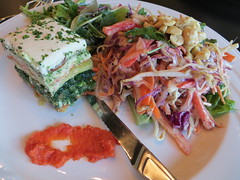 Living lasagna & kaffir miso pad thai salad