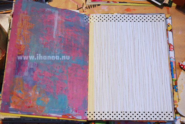 Art Journal Peek: Daisy Yellow & Pink
