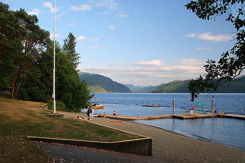 Arbutus Park, Youbou, Cowichan Lake, Vancouver Island, British Columbia, Canada