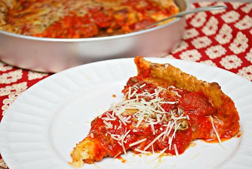 GF Chicago Deep Dish Sausage & Pepperoni Pizza