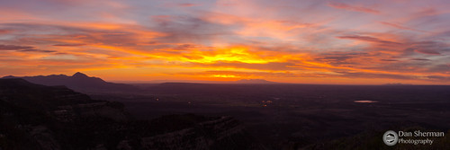 sunset sky panorama sun color colorado view unitedstates vista mesaverdenationalpark