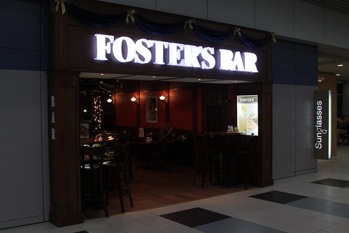 Why is there a 'Foster's Bar' at a Russian airport?
