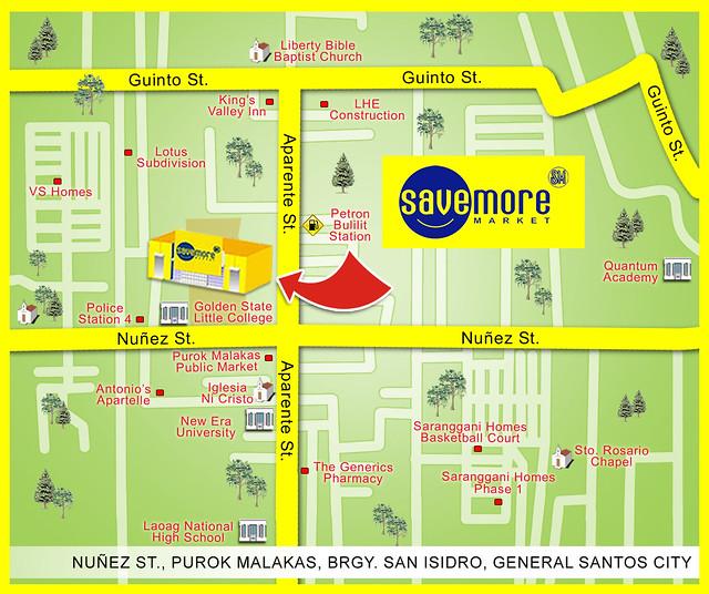 sm savemore market gensan map