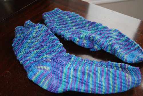 handknit RPM socks by Irieknit in Lorna's Laces Shepherd Sock yarn