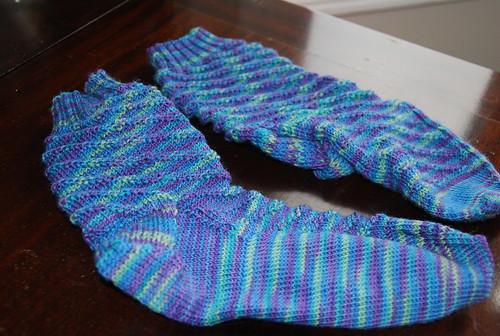 handknit RPM socks by Irieknit in Lorna's Laces Shepherd Sock yarn