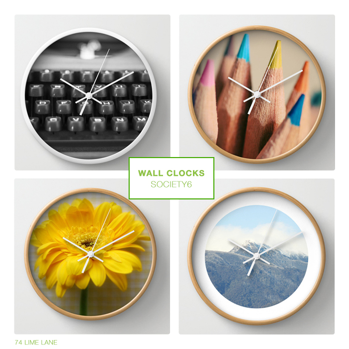 shop news // society6 wall clocks