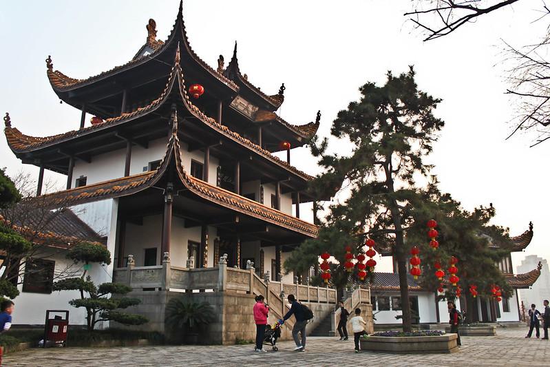 Vista delantera del pabellón Tianxin.