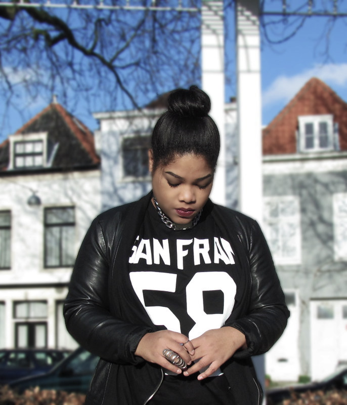 high bun, h&m, urban, style, how to, jordans, celine necklace, new look, fashion, dope, swag