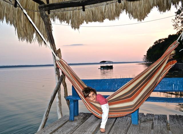 el remate sunset - peten itza lake el remate guatemala
