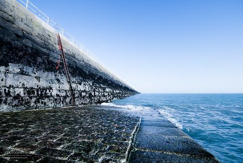 sea water pier nikon jersey channelislands stcatherine slipway breakwater d3000