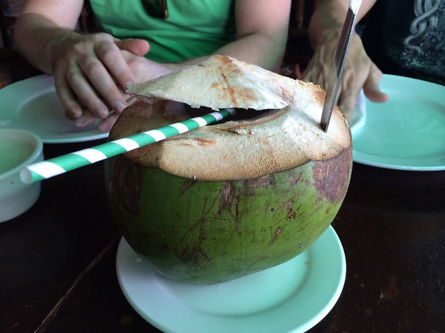 Coconut juice - Leslie's Restaurant