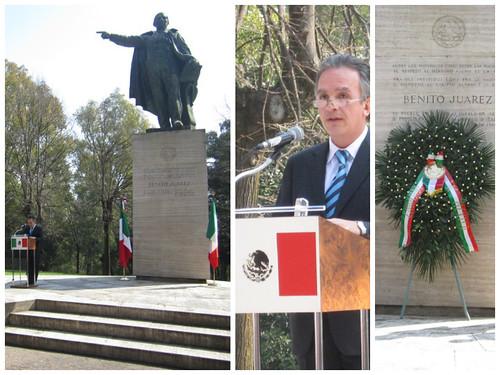 Ceremonia conmemorativa del natalicio de Benito Juárez