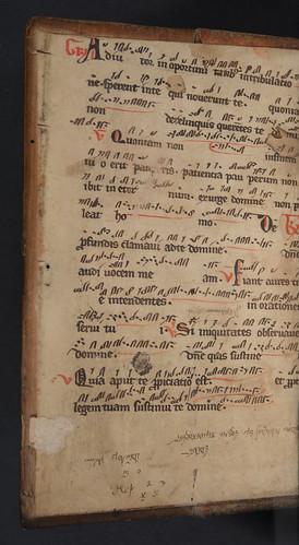 Vellum pastedown in Baptista Mantuanus: De morte Collae