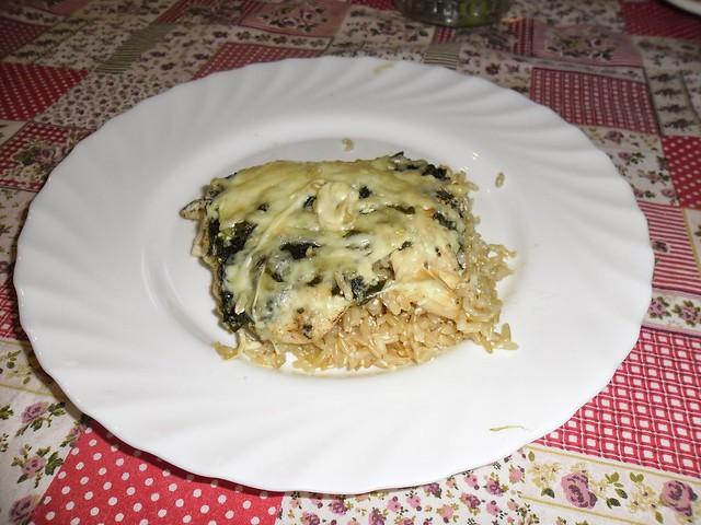 mandula konyhai kalandjai _ spenótos rakott rizs