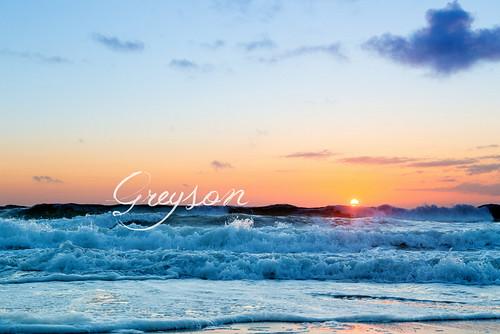 Greyson's Seafoam Sunset