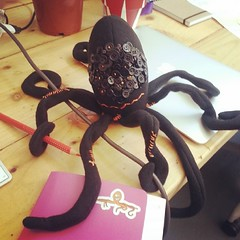 Oh my word! Tentacular new desk buddy made by the incredible @stealingsand ! Thank you - such a great surprise parcel today!
