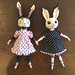 ceramic bunny dolls