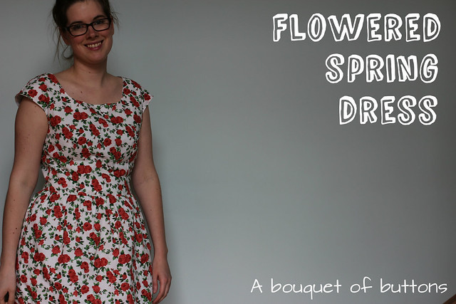 Burdastyle, sewing vintage modern, cap sleeve dress, elisabeth gathered waist dress, dress, jurk, kleedje, bloemen, flowered, spring, lente