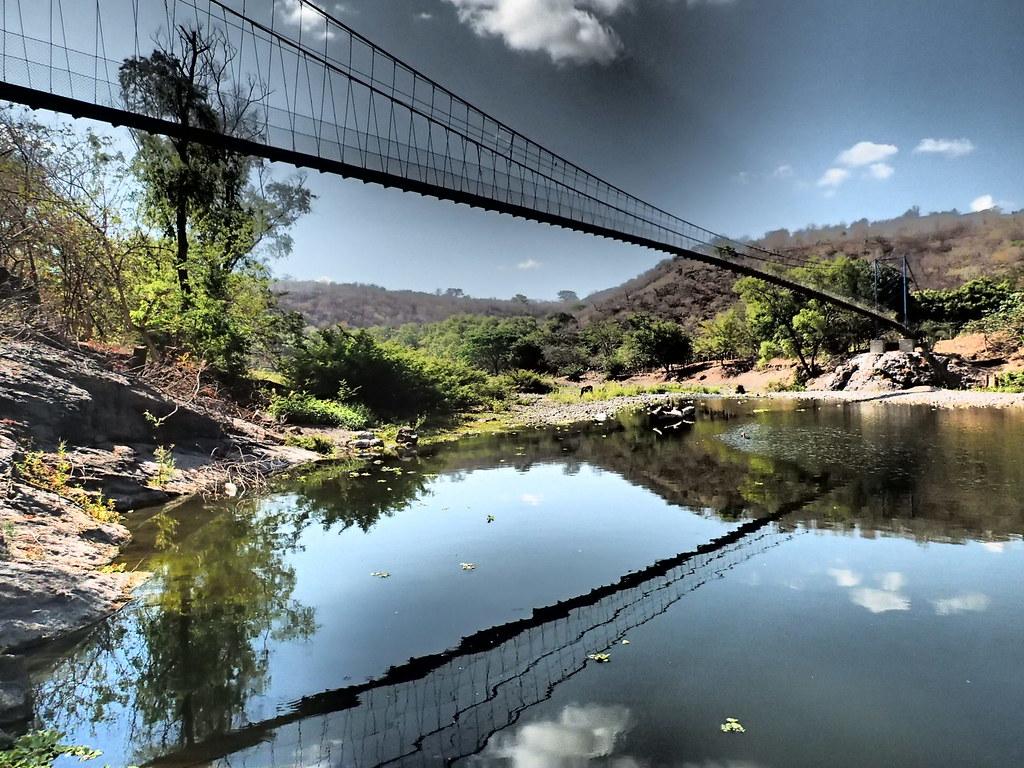 Suspension bridge built by Bridges to Prosperity