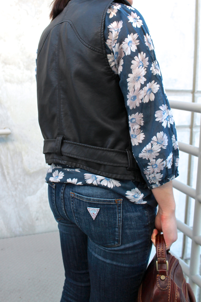 how to make a floral blouse less feminine