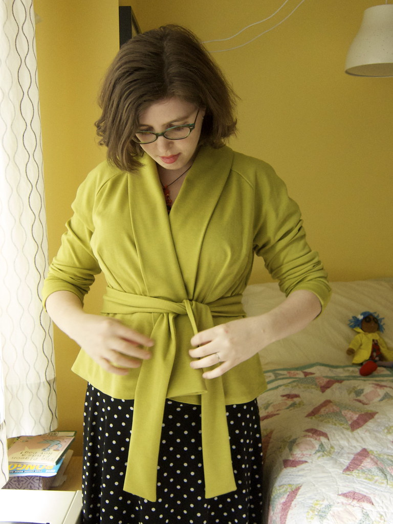 McCall's 5529 Chartreuse Cardigan Jacket Fail
