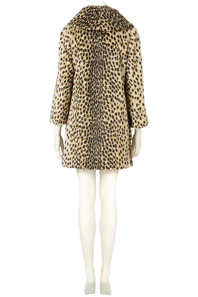 Topshop UK Leopard Print Vintage Faux Fur Coat