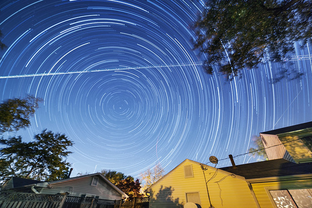 Camelopardalid Meteor Startrail
