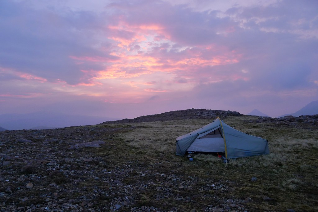 Wild camp on Ruadh Stac Beag