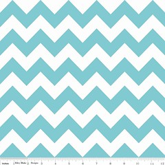 Riley Blake Hollywood Medium Chevron Aqua SPARKLE SC320-20