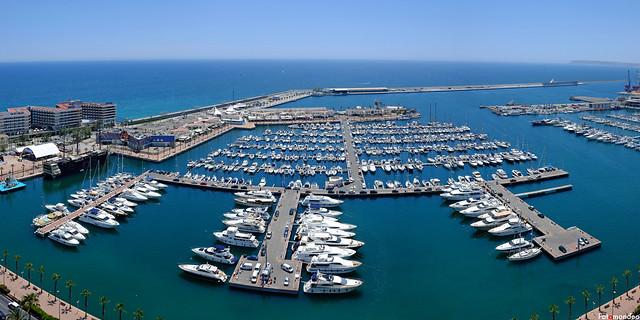 Alicante, Panorama of the Port