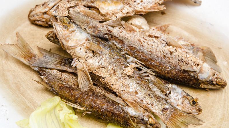 Crispy Fried Fish at Restaurant Light House Seafood at Matang, Taiping