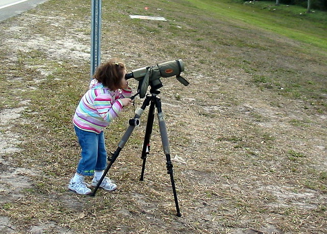 Graciela watching eagle nest 2008