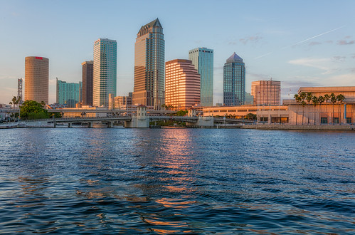 sunset reflection skyline tampa effects florida beercan processing nik hdr hillsboroughriver photomatix sykesbuilding plattstreetbridge rivergatebuilding