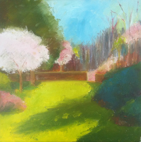 First of May at Long Hill (Oil Bar Painting as of May 20, 2013 by randubnick