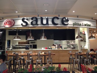 Sauce - Pizza & Wine signage