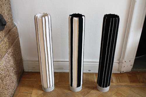 Textila skulpturer av Charlotta Lillieström Hallberg.