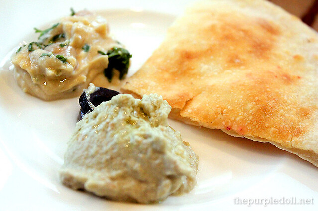 Babaganoush, Hummus and Pita