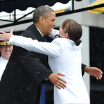 Barack Obama: Midshipmen graduate from the U.S. Naval Academy.