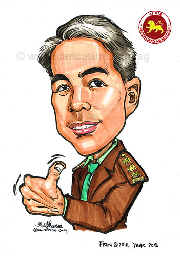 caricature for Singapore Armed Forces 06062013